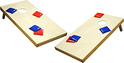 Foldable /& Portable Pennsylvania Woodworks Cornhole Game Set :: 2 Solid Wood Corn Toss Boards Weather Resistant Finish 24 x 20 :: Slim 8 Corn Filled Bean Bags :: Tailgate Size