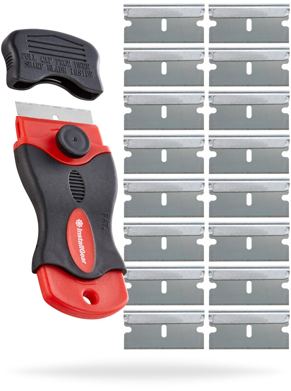 InstallGear Mini Razor Scraper with 16 Blades