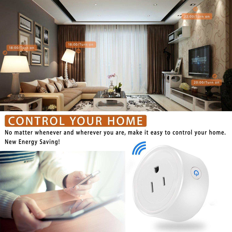 Wi Fi Smart Plug Mini Outlet Power Control Socket Remote Control