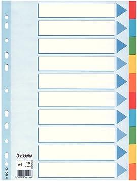 5 x Register Din A4 10 Teilig Karton Trennblätter Blanko Farbig Kartonregister