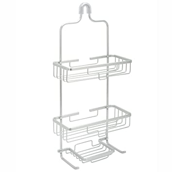 Zenna Home 7402AL  NeverRust Aluminum Shower Caddy  Satin Chrome. Amazon com  Zenna Home 7402AL  NeverRust Aluminum Shower Caddy
