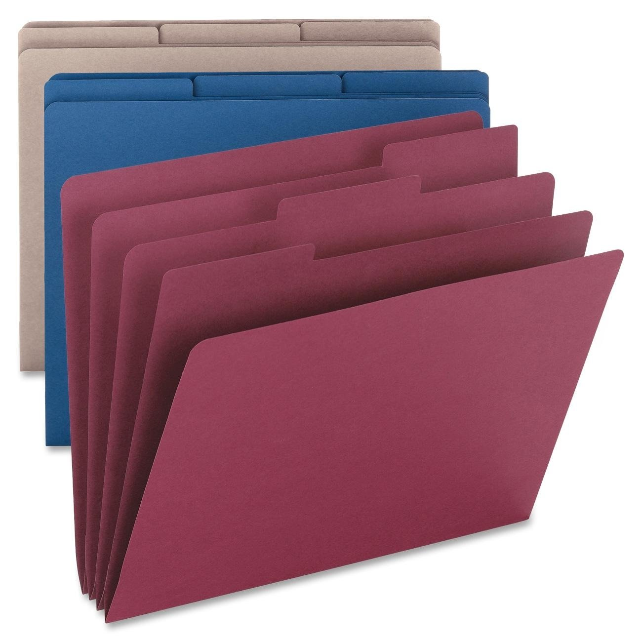 Smead Organizer Folder, Three 1/3-Cut Tabbed Dividers, Letter Size, Assorted Colors, 3 Per Pack (85785)