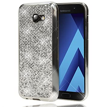 NALIA Purpurina Funda Compatible con Samsung Galaxy A5 2017, Carcasa Protectora Movil Silicona Ultra-Fina Glitter Bumper, Lentejuela Cubierta ...