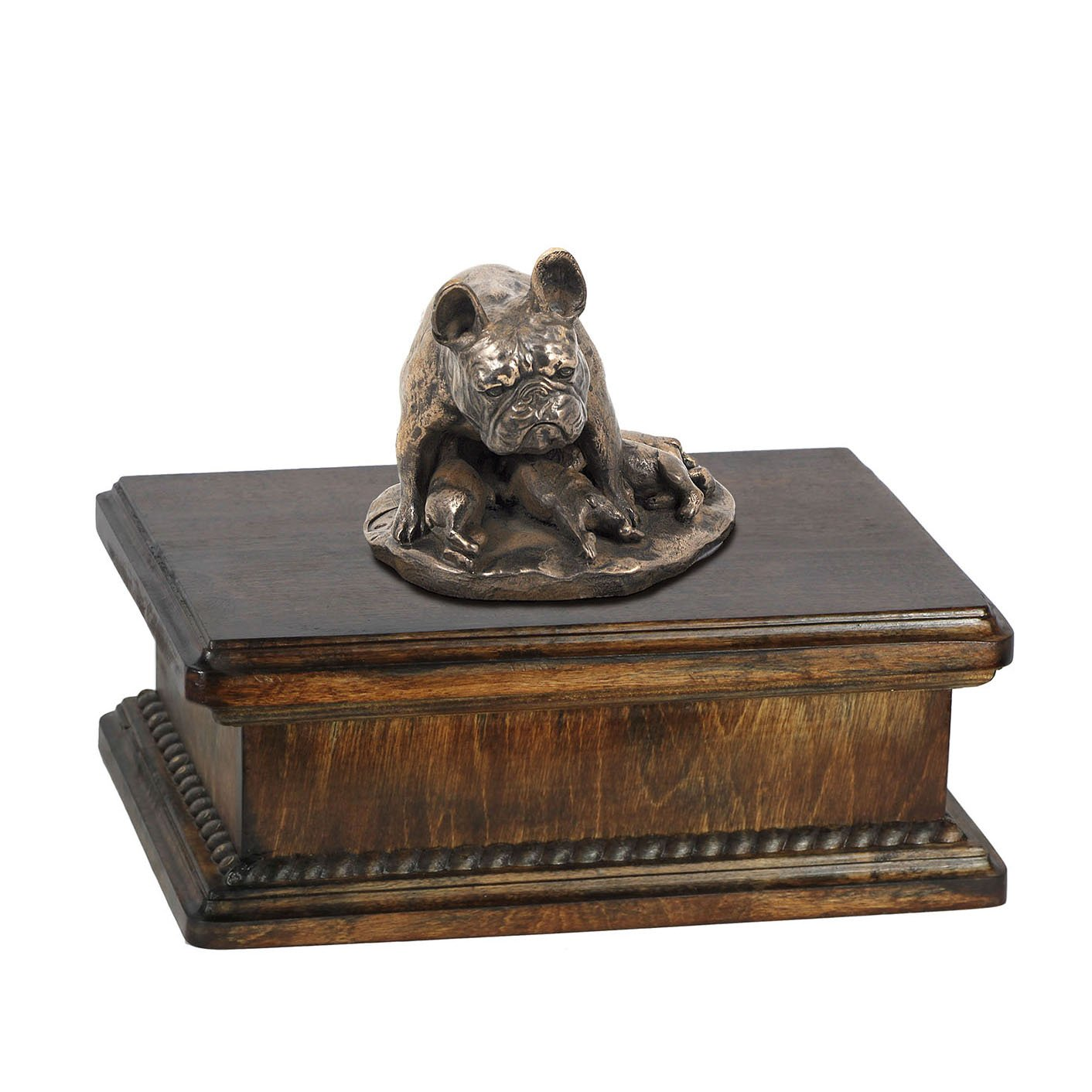 French Bulldog (mama), memorial, urn for dog's ashes, with dog statue, exclusive, ArtDog