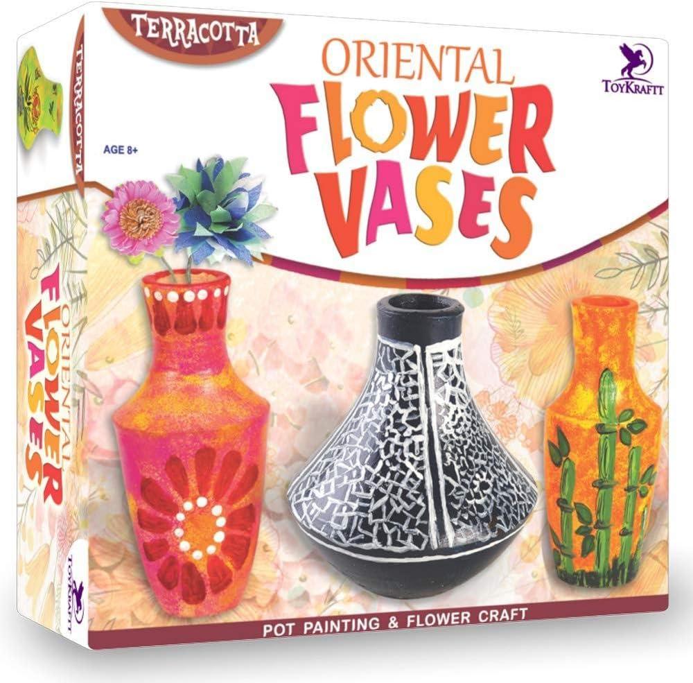 Oriental Ceramic Painting Vase Paper Flower Making Arts Craft Kit Girls Gift Ideas Birthday Christmas Amazon Co Uk Kitchen Home