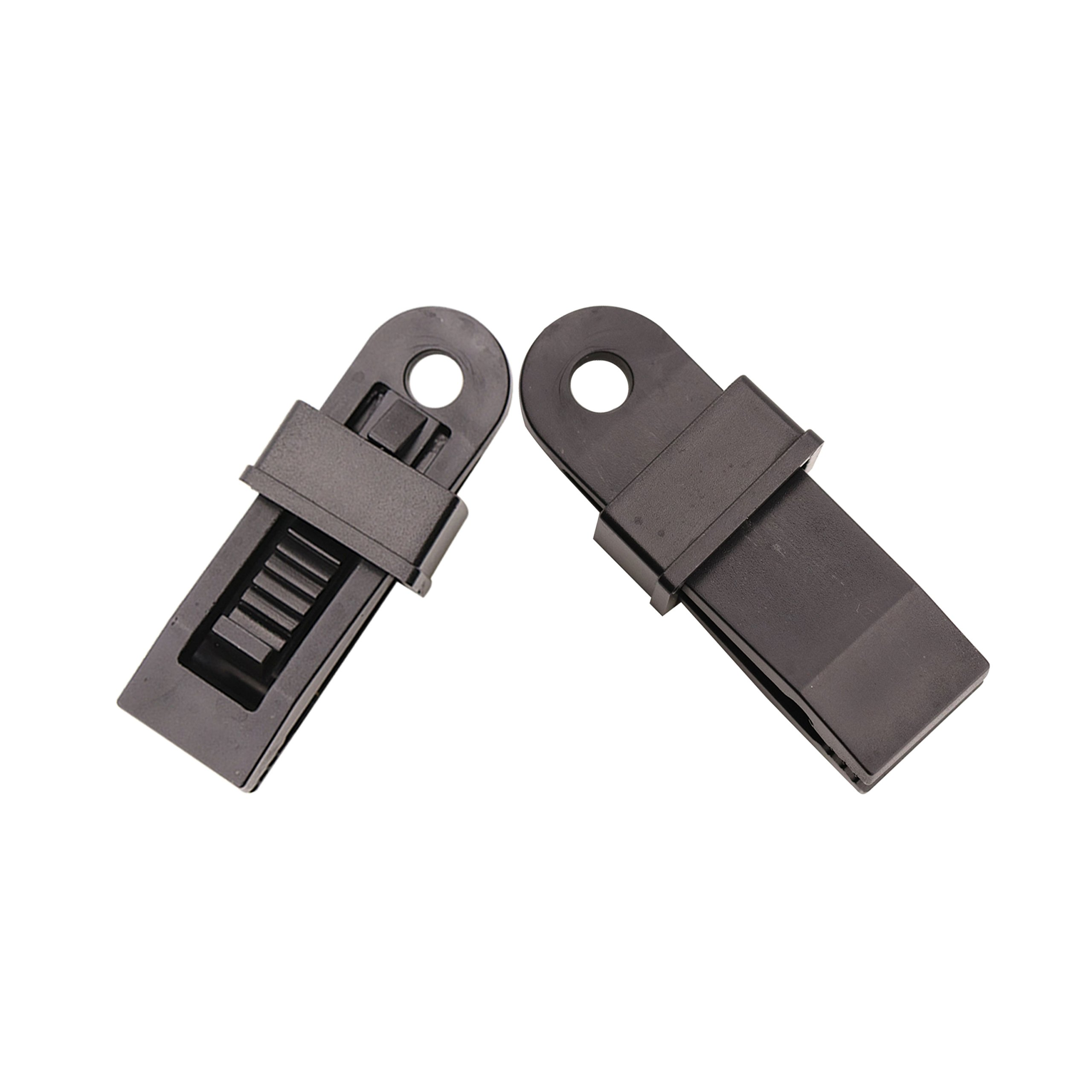 SZHOWORLD 10PCS Black Heavy Duty Outdoor Camping Tarp Clips Sliding-Lock Grip Tent/Awning Clamps Tie Downs (10PCS Large Size) by SZHOWORLD (Image #7)
