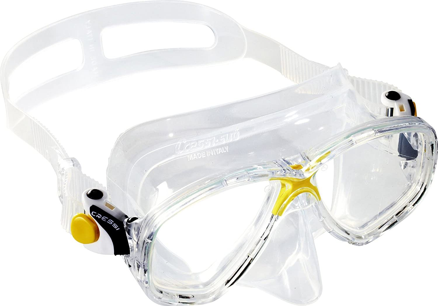 Yellow Cressi Marea Premium Snorkeling and Diving Mask (Made in )