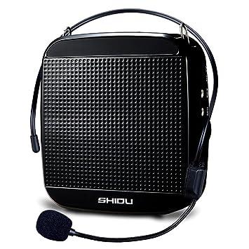 SHIDU SD-S512 amplificador de voz (18 W) con 1200 mAh batería de