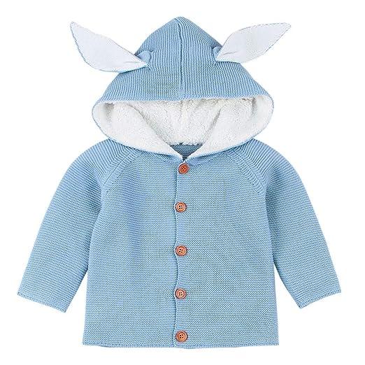 0eb763cb8a90 Amazon.com  Winter Warm Jacket for Baby Girls Cute Rabbit Ear Cotton ...
