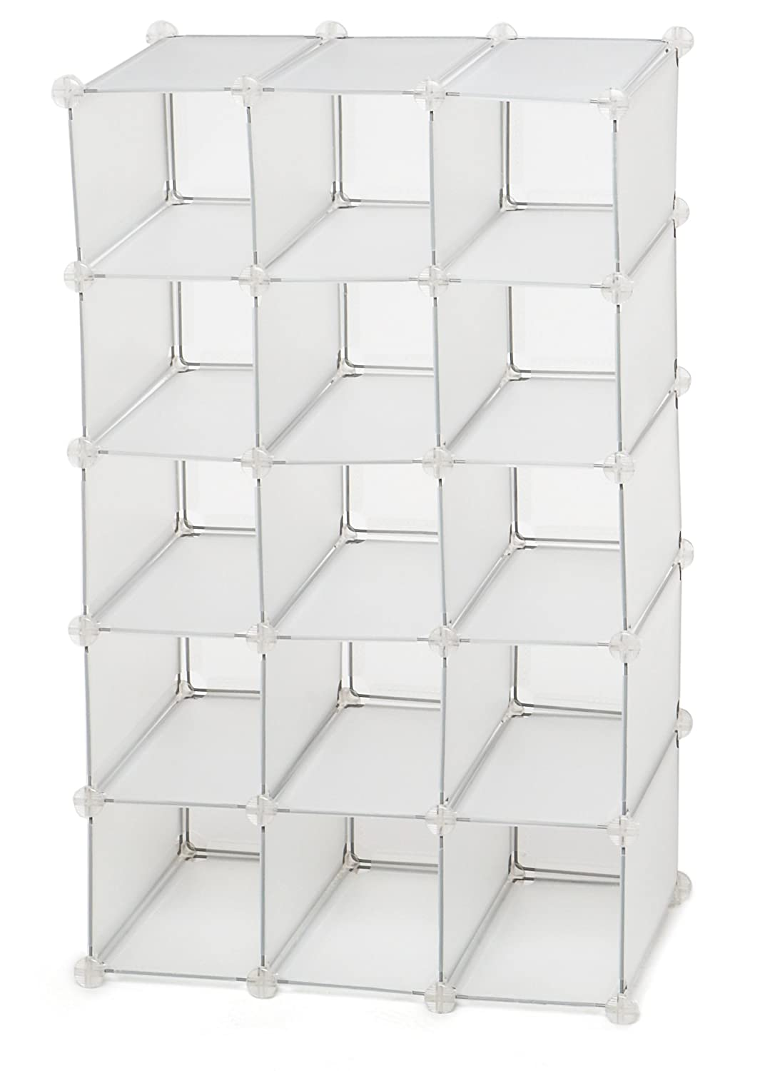 Amazon.com: Storage Solutions 15 Pair Shoe Cubby, White Frost: Home U0026  Kitchen