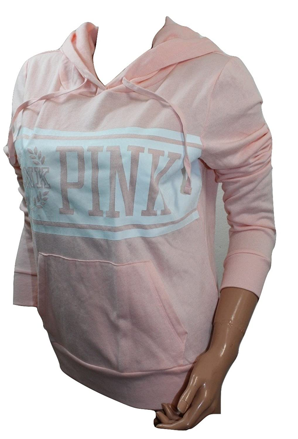 VICTORIA'S SECRET Pink Perfect Super Soft Fleece Pullover Hoodie Peach NWT
