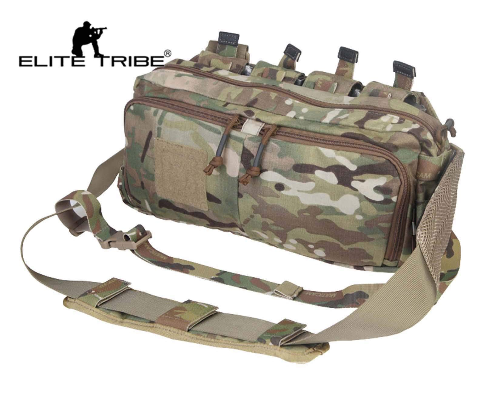 Elite Tribe Multi-Functional Sling Bag Waist Backpack Wargame Recon Multicam