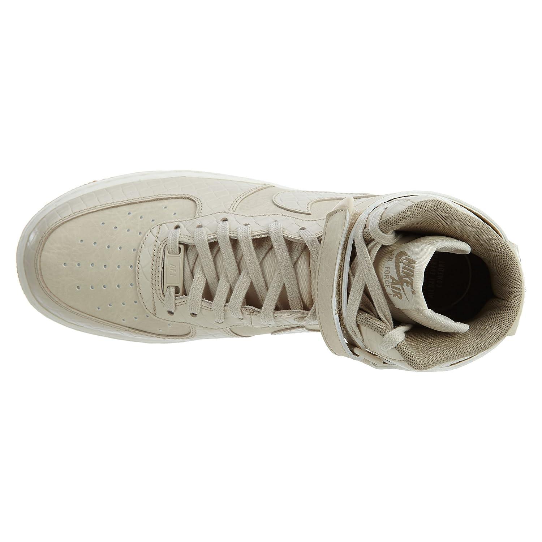 buy online 88b58 5aa97 Amazon.com   NIKE Air Force 1 Hi Premium Oatmeal Oatmeal-Khaki-Sail (WS)    Shoes