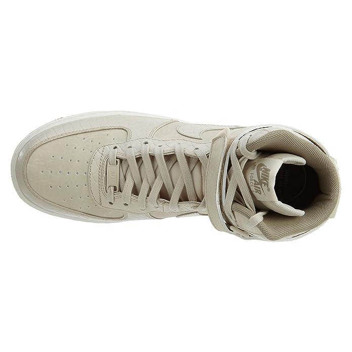 buy online 73ff8 060dc Amazon.com   NIKE Air Force 1 Hi Premium Oatmeal Oatmeal-Khaki-Sail (WS)    Shoes