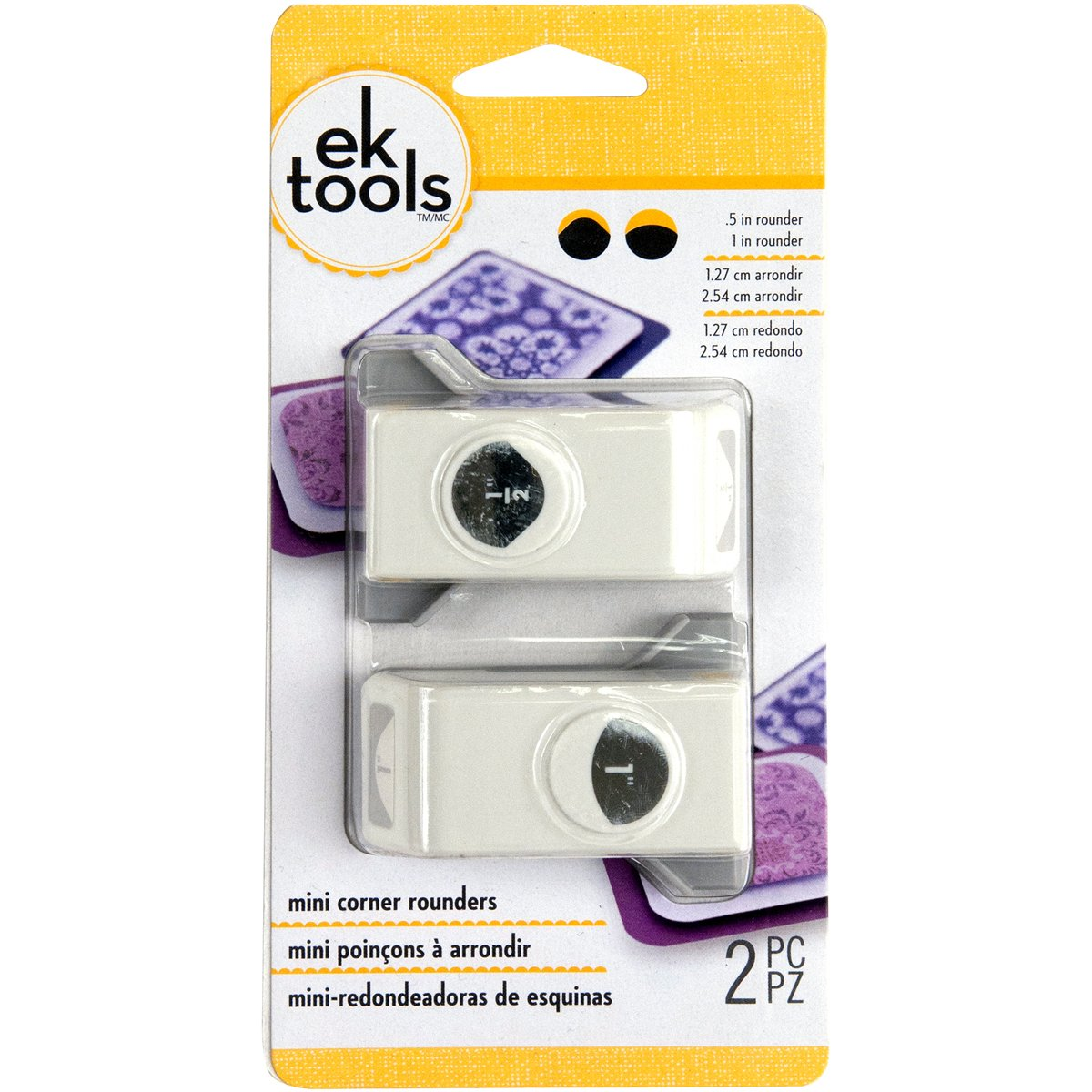 Ek Tools, set di mini timbri punch, Altro, Multicoloured, 3.9 x 10.89 x 19.78 cm EK Success 54-70026