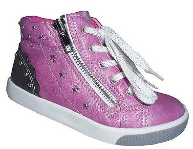 American Club Mädchen Halbschuhe Turnschuhe Sneaker