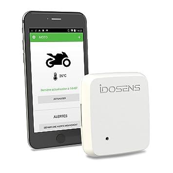 IDOSENS Bikesens – Alarma con Sensor de Movimiento conectada para Moto y escúter