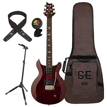 PRS stcsvc se Santana Standard Vintage Cherry bloqueo de guitarra eléctrica (con funda, soporte, sintonizador, y Lock-It correa: Amazon.es: Instrumentos ...