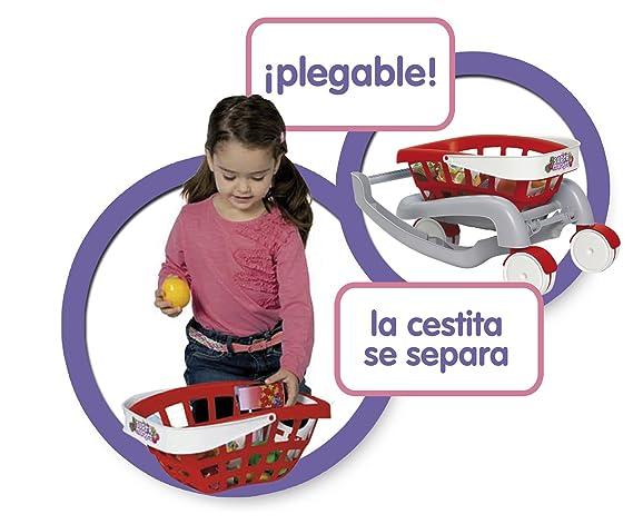Chicos - Mi primer carrito de supermercado 2 en 1 (Fábrica de Juguetes 84153): Amazon.es: Juguetes y juegos