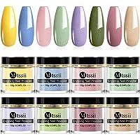Dip Powder Nail Colors Set - MTSSII 8 Colors Dipping Powder Nail Set for Starter No Need UV/LED Lamp For French Nail…