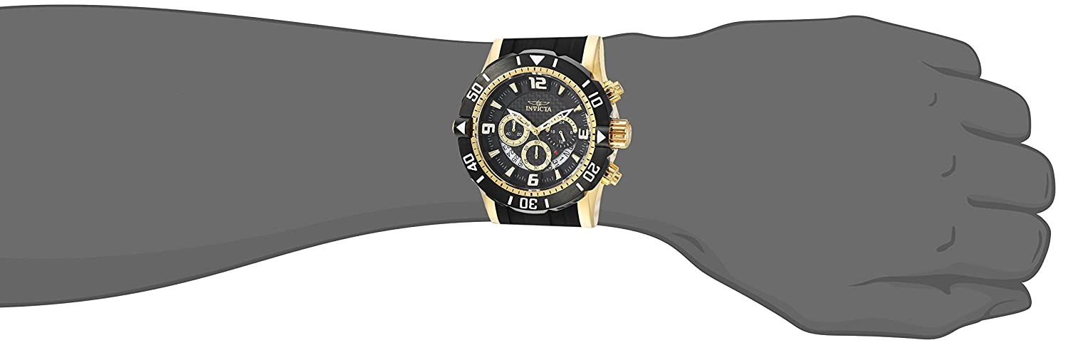 Invicta Men s Pro Diver Stainless Steel Quartz Diving Watch with Polyurethane Strap, Two Tone, 24 Model 23702