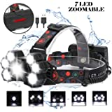 Canwelum Rechargeable Led Head Torch Bright Cree T6