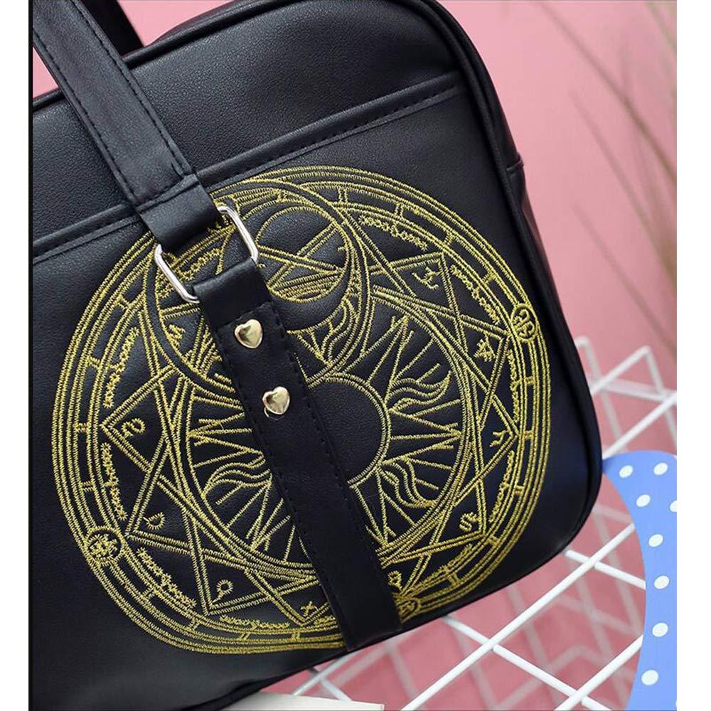 JK student pu leather bag shoulder handbag Japanese school Anime Messenger Bags shoulder backpack
