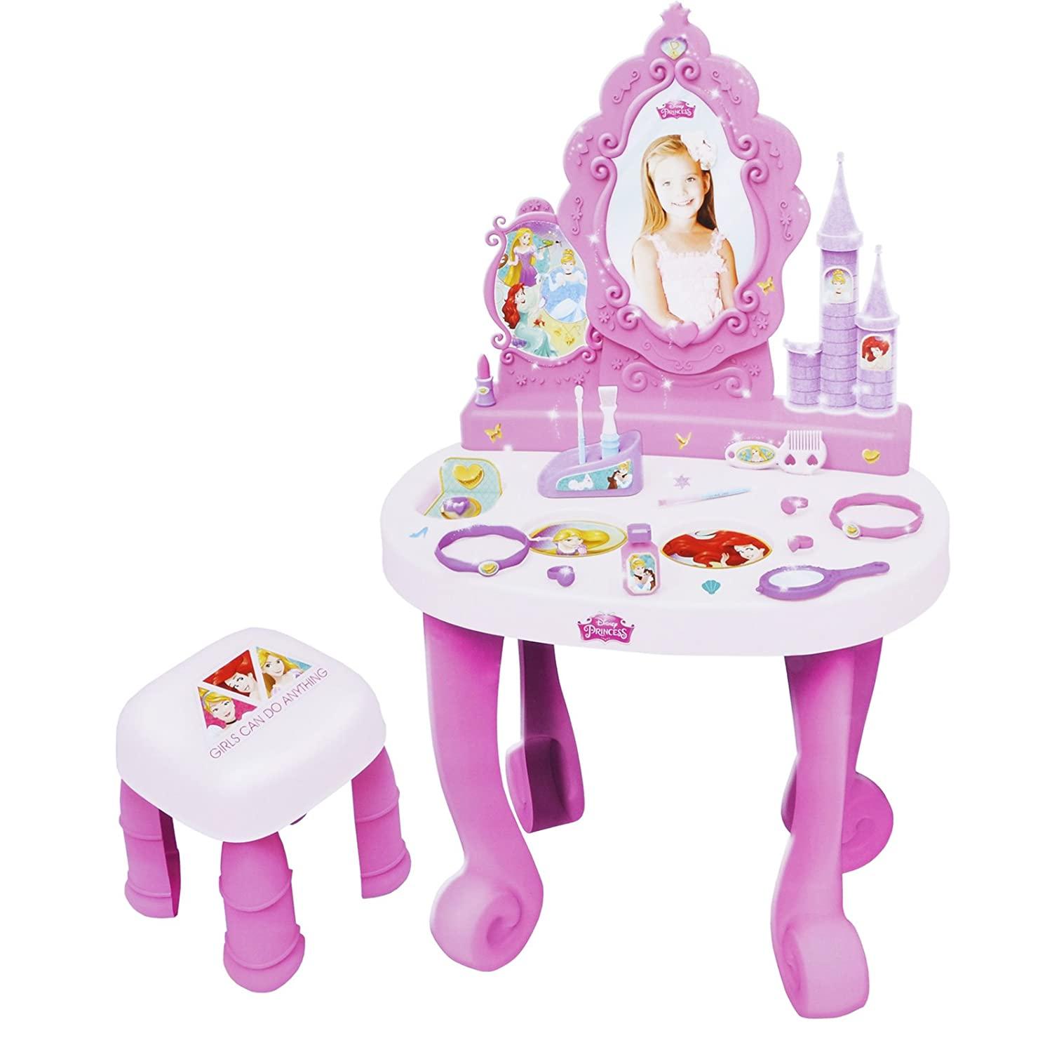 Disney Princess Dressing Table Play Set Girls Vanity Mirror Toy 17