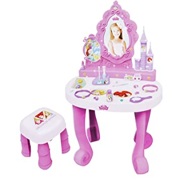 Disney Princess Dressing Table Play Set Girls Vanity Mirror Toy 17 ...