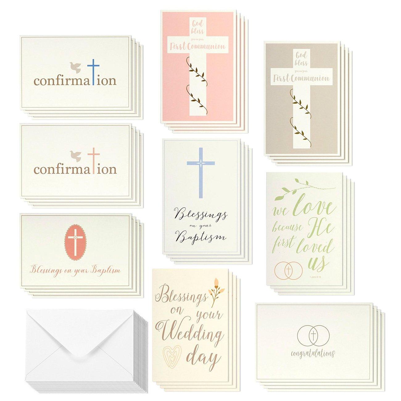 Amazon Elegant Pastel Catholic Sacrament Greeting Cards 9