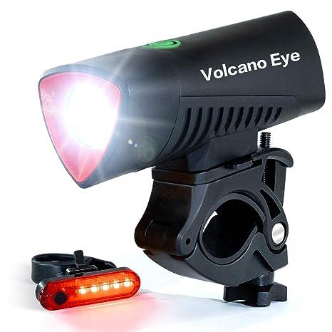 Volcano Eye Luz Bicicleta, LED Bici Delantero y Trasero Brillante ...