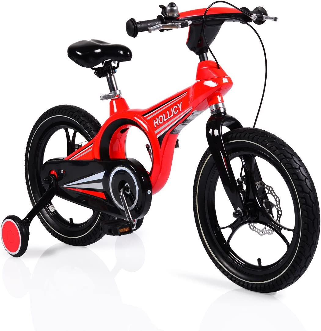 byox bicicleta infantil 16 pulgadas Magnesio Rojo, ruedines ...