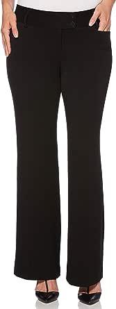 Rafaella Women's Curvy-fit Gaberdine Trouser Pant