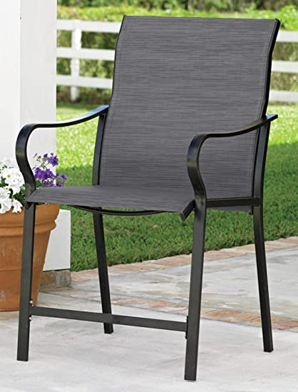 Amazon Com Livingxl Extra Wide High Back Patio Chair Grey