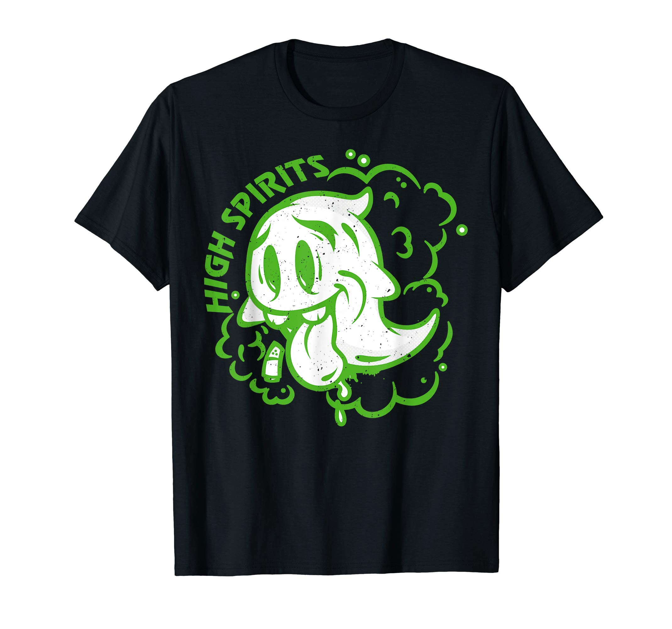 Halloween Marijuana Cannabis Ghost Design Weed Smokers T-Shirt