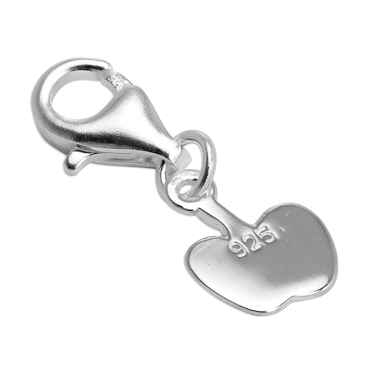 Sterling Silver Apple Clip on Charm