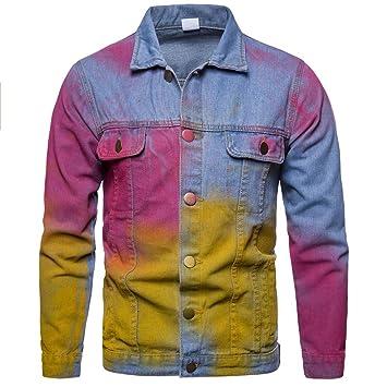 LuckyGirls Abrigos Vaqueros para Hombre Vintage Denim Chaquetas Parka Casual Jacket: Amazon.es: Deportes y aire libre