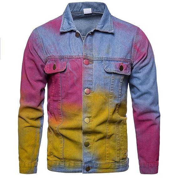 Cebbay Chaqueta de Mezclilla de los Hombres Top Manga Larga Color Vintage Chaqueta Camisa Trajes para la Nieve Ropa Hombre Invierno 2018 Liquidación: ...