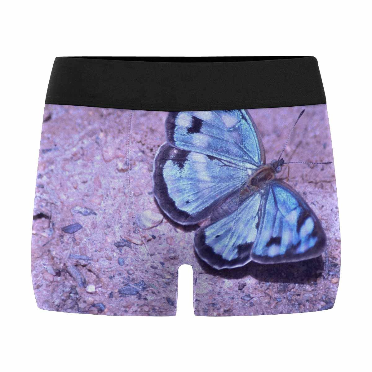 INTERESTPRINT Custom Mens All-Over Print Boxer Briefs Blue Butterfly XS-3XL