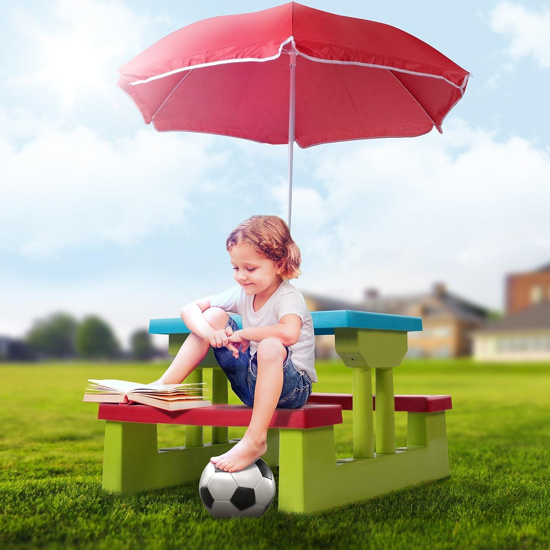 Infantastic Colourful Children\u0027s Picnic Table \u0026 Bench 4 Seater Set ...