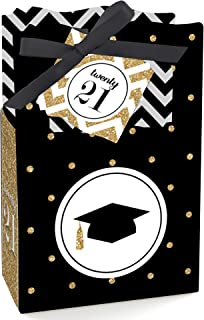 product image for Big Dot of Happiness Gold Tassel Worth The Hassle - 2021 Graduation Party Favor Boxes - Set of 12