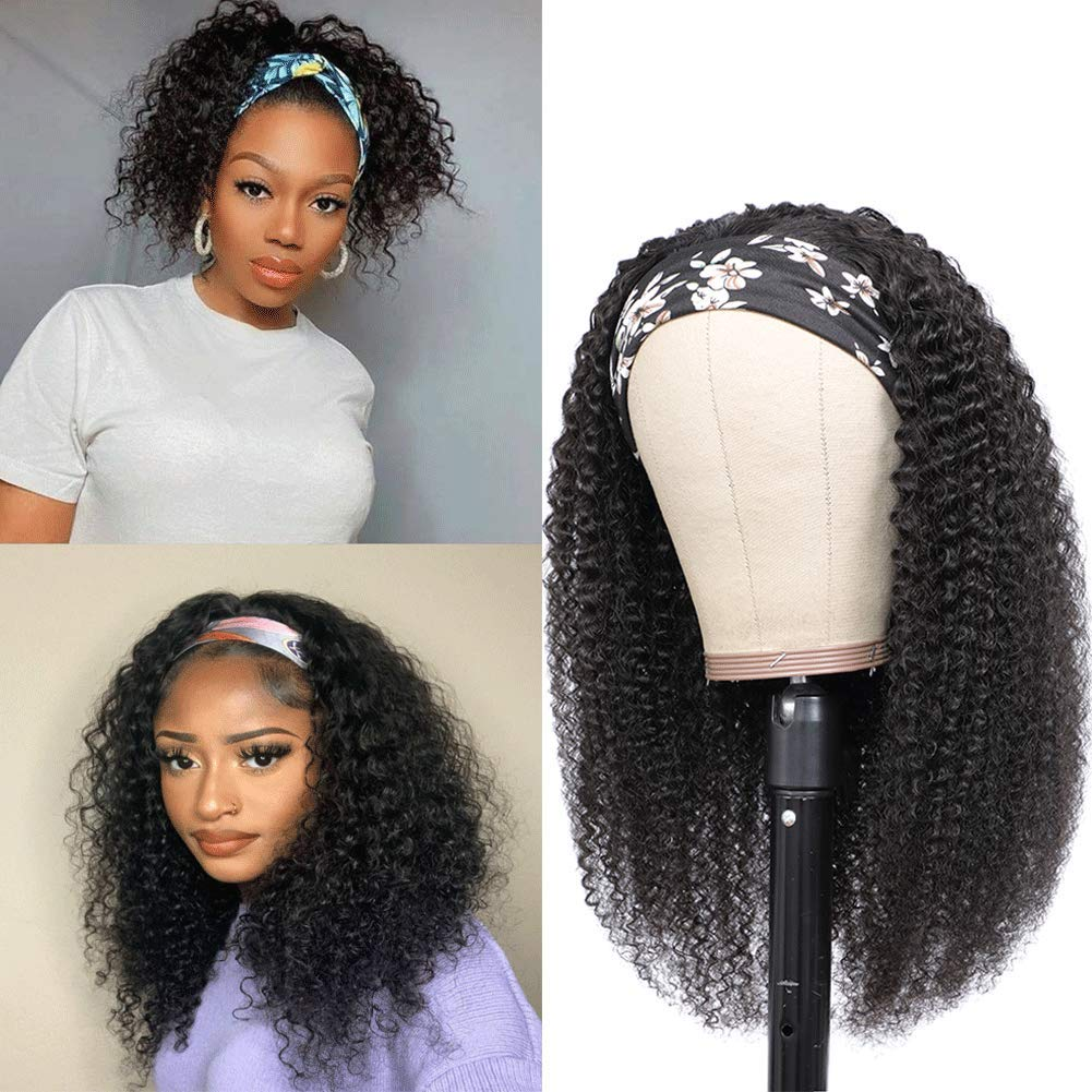 Headband Wigs Human Hair Non Lace Women Black Front Mac For Cheap mail order shopping Japan Maker New