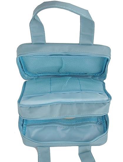 Amazon.com: La Colada del recorrido del artículo de tocador Artículos de tocador de belleza cosmética del bolso Azul de Cielo: Health & Personal Care