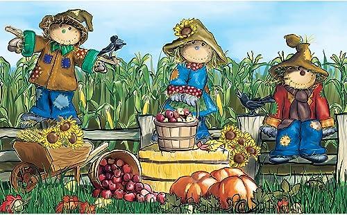 Polytop Scarecrows Multi Door Mat 18 x 30