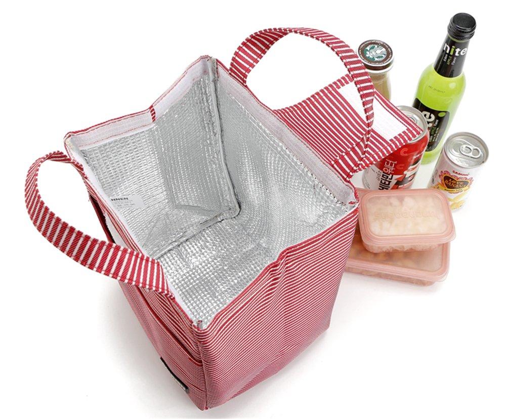 la scuola SanNeng 9L Disegno delle strisce Grande sacchetto del pranzo del dispositivo di raffreddamento per il lavoro la spiaggia pic-nic campeggi,Tasche multiple escursioni i viaggi Melnne
