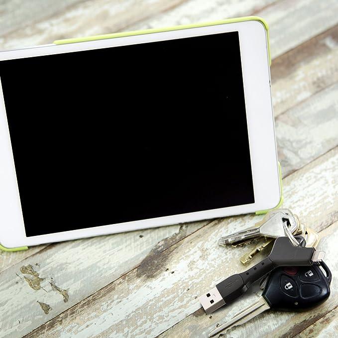 Amazon.com: powerkey Lightning llavero Cargador para Apple ...