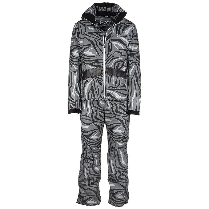 Emporio Armani EA7 Mono de esquí con Pantalones y Chaqueta Hombre Invernal Negro EU M (