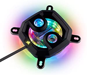 CORSAIR Hydro X Series,XC7 RGB CPU Water Block,16 Individually addressable RGB LEDs,Software-Enabled, 115X/AM4