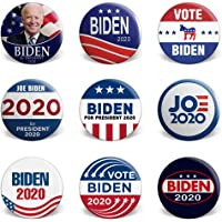 CEREALY Set of 4 Joe Biden 2020 Badge Joe Biden For President 2020,Round Pattern Badge With Pin For Jean Jackets Backpacks And Other Fabric Item,Vote Democrat Hats