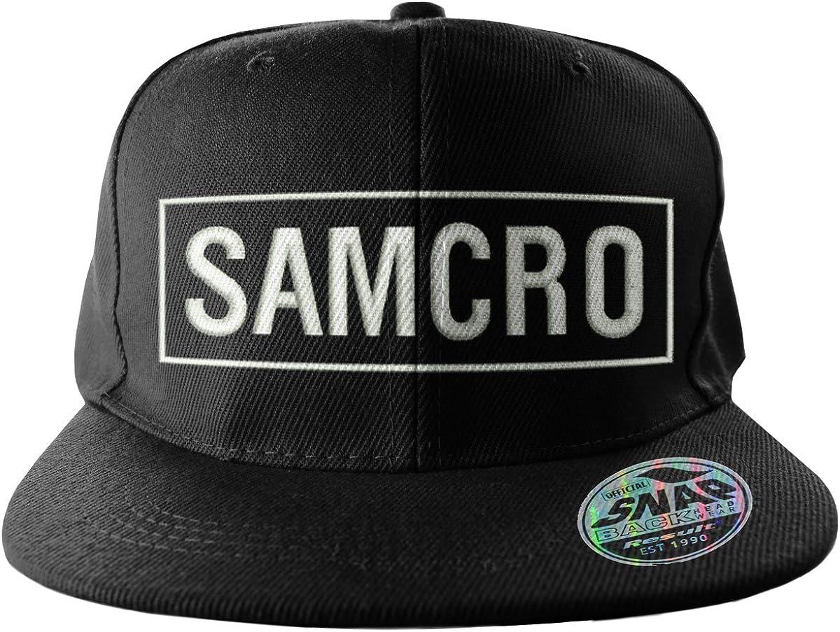 SAMCRO Embroidered Adjustable Size Official Snapback Cap Black